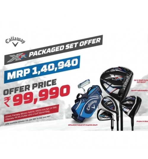 CALLAWAY XR 16 COMPLETE SET OFFER WITH CALLAWAY DELMAR BROGUE GOLF SHOES FREE MRP.14990