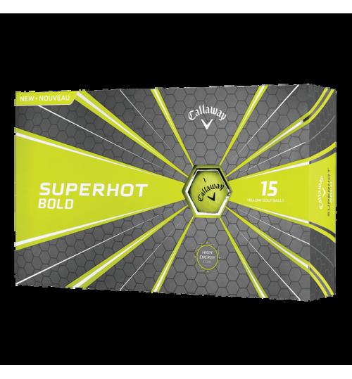 CALLAWAY SUPERHOT BOLD MATTE YELLOW 15-PACK GOLF BALLS