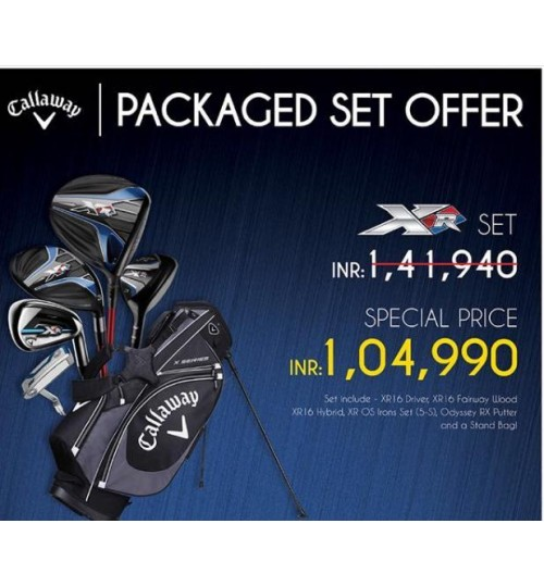 CALLAWAY XR 16 WOODS WITH XR 16 OS IRONS COMPLETE SET OFFER