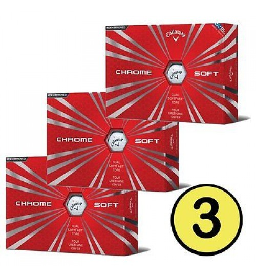 "CHROME SOFT GOLF BALLS OFFER ""BUY 3 & GET 1 FREE"""